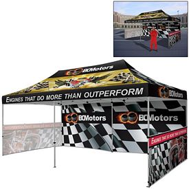 Promotional Deluxe 10 x 20 Ft Showstopper Tent Package (Full Color Sublimation)