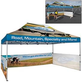 Promotional Deluxe 10 x 15 Ft Showstopper Tent Package (Full Color Sublimation)