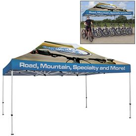 Customized Deluxe 10 x 15 Ft Showstopper Tent (Full Color Sublimation)
