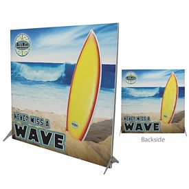 Promotional 79-inch Impress Fabric Display Kit Double-Sided