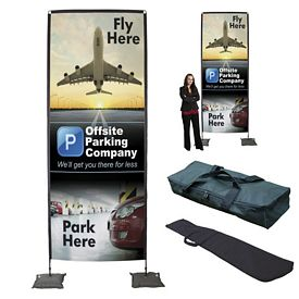 Promotional 14.5 Ft Tribute Indoor Fabric Display Kit
