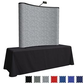 Customized 6 Ft Arise Curved Table Top Kit (Fabric)
