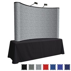Promotional 8 Ft Arise Curved Table Top Kit (Fabric)