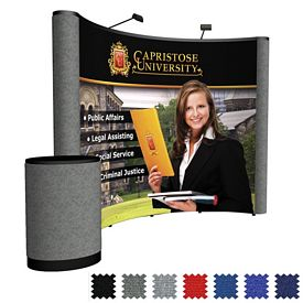 Promotional 10 Ft Arise Curved Floor Kit (Mural w/Fabric Ends)