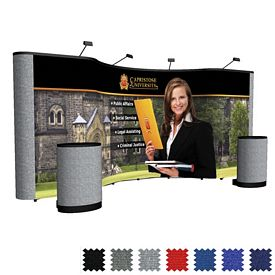 Promotional 20 Ft Arise Combination Floor Display Kit (Mural w/Fabric Ends)