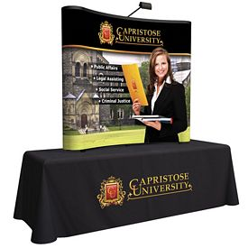 Promotional 6 Ft Arise Curved Table Top Kit (Full Mural)