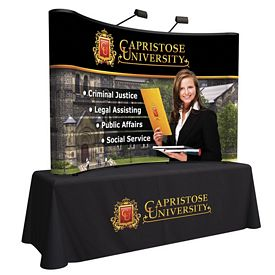 Promotional 8 Ft Arise Curved Table Top Kit (Full Mural)