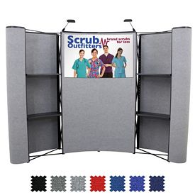 Customized 10 Ft Deluxe Merchandiser Product Display Kit