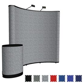 Customized 8 Ft Show-N-Rise Curved Floor Kit (Fabric)