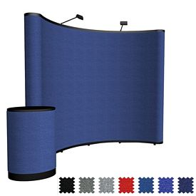 Customized 10 Ft Show-N-Rise Curved Floor Kit (Fabric)