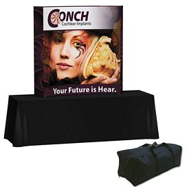 Customized Splash 6 Ft Curved Tabletop Graphic Kit (w/Edge Wrap)