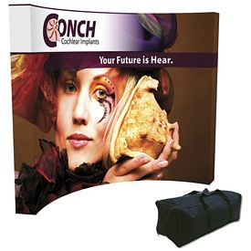 Promotional Splash 10 Ft Curved Floor Graphic Kit (w/Edge Wrap)
