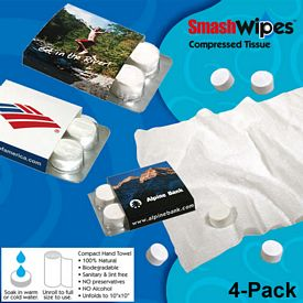 Customized Compressed Tissue Wipes 4-Pack