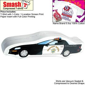 Promotional Compressed T-Shirt: Police Car