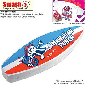 Promotional Compressed T-Shirt: Mini Surf Board - Youth Size