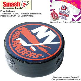 Customized Compressed T-Shirt: Hockey Puck