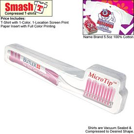 Promotional Compressed T-Shirt: Toothbrush
