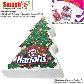 Promotional Compressed T-Shirt: Holiday Christmas Tree