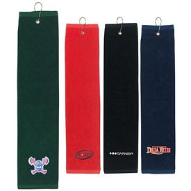 Promotional 16x22 Tri-Fold Golf Towel
