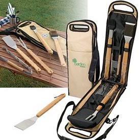 Promotional 5-Piece Bamboo BBQ Set
