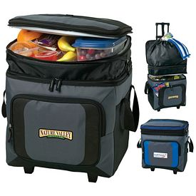 Promotional 36 Can Roller Cooler w Storage