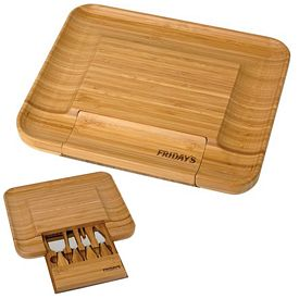 Promotional Bamboo Cheese Serving Set