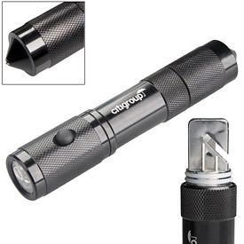Promotional Rescue Flashlight 4 LED Hammer & Cutter