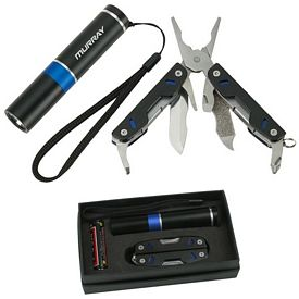 Promotional Duo Multi Tool Flashlight Set