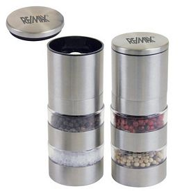 Promotional Stainless Steel Salt & Pepper Mill Set