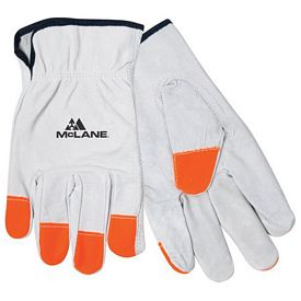 Promotional Hi-Vis Leather Orange Tip Driver's Gloves