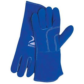 Promotional Blue Welders Gloves