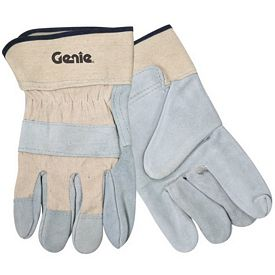 Promotional White Split Leather Safety Cuff Glove