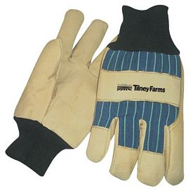 Promotional Blue Thinsulate Lined Pigskin Leather Palm Glove