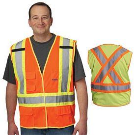 Promotional X-Back Breakaway Two-Tone Mesh Vest