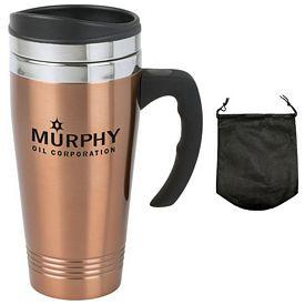 Promotional 14 oz Copper Travel Mug