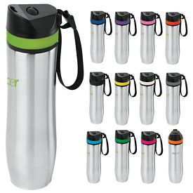 Promotional 20 oz Persona Stainless Steel Vacuum Water Bottle