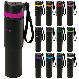 Promotional 20 oz Black Matte Tower Vacuum Water Bottle