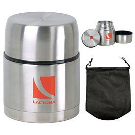 Promotional 16 oz Stainless Steel Vacuum Food Jar
