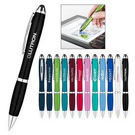 Customized Metallic Curvaceous Ballpoint Stylus Pen