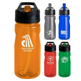 Promotional 19 Oz Notched Tritan Loop Water Bottle