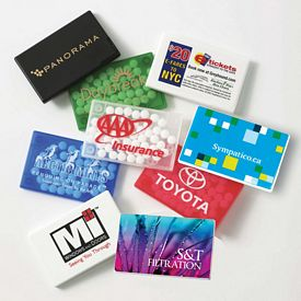 Promotional Rectangular Mint Card With Micromints