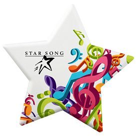 Promotional Star Shaped Mint Card With Micromints