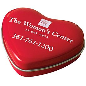 Promotional Sweet Heart Shaped Micromints Tin