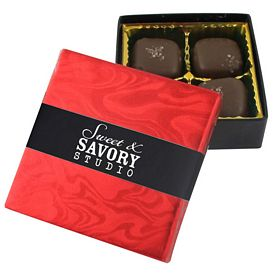 Promotional 4 Piece Sea Salt Caramel Box