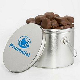 Promotional One Gallon Wrapped Milk Chocolate S'Mores Tin