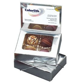 Promotional Assorted Truffle Business Card Holder Gift Box