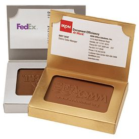 Promotional Rectangle Chocolate Cookie Business Card Box
