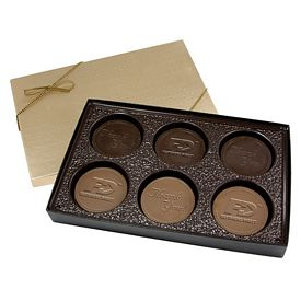 Promotional Round Chocolate Cookie Gift Box