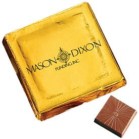 Promotional Custom Chocolate Foiled Square