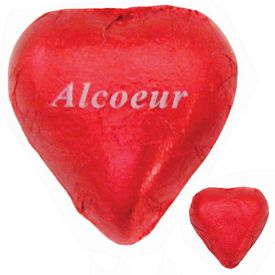 Promotional Imprinted Chocolate Foiled Heart
